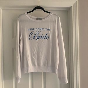 NWOT Wildfox Here Comes the Bride sweatshirt